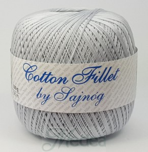 Kordonek COTTON Fillet -  szary nr 80