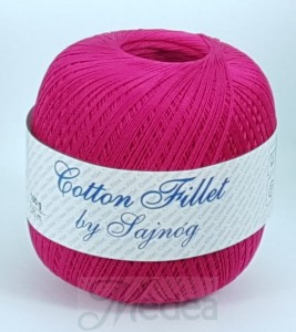 Kordonek COTTON Fillet -  fuksja nr 105