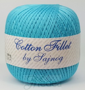 Kordonek COTTON Fillet -  jasny turkus nr 3846