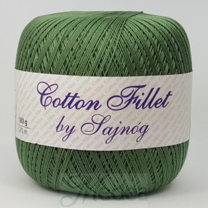 Kordonek COTTON Fillet -  ciemny zielony nr 72